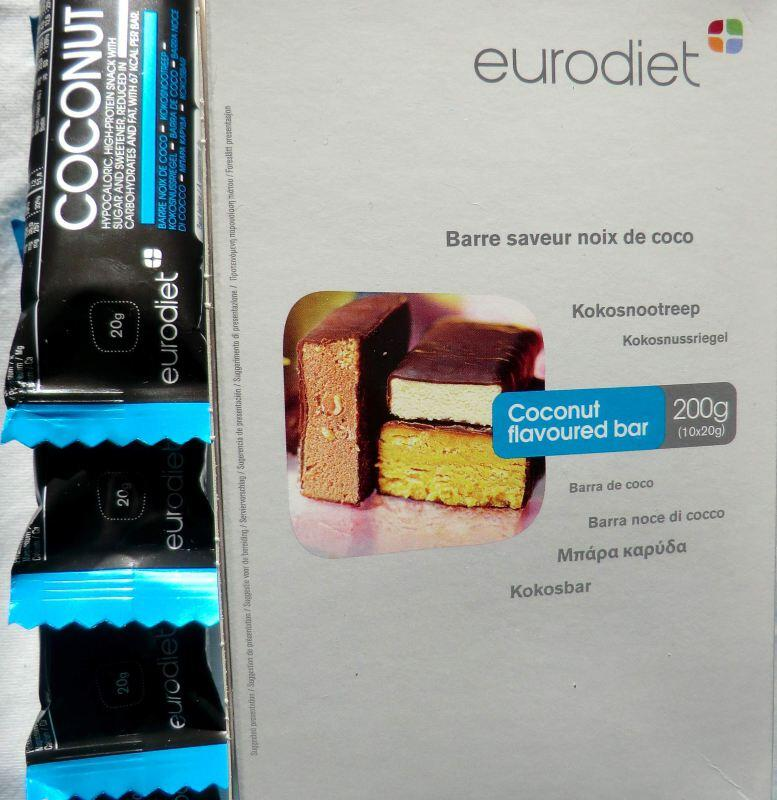 EURODIET Kokosnuss Mini-Riegel 10x20g